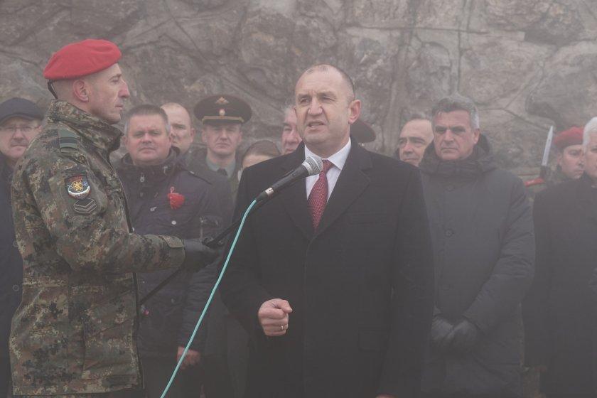 Президентът Радев: Дългът към паметта за опълченците на Шипка е свят и неотменим