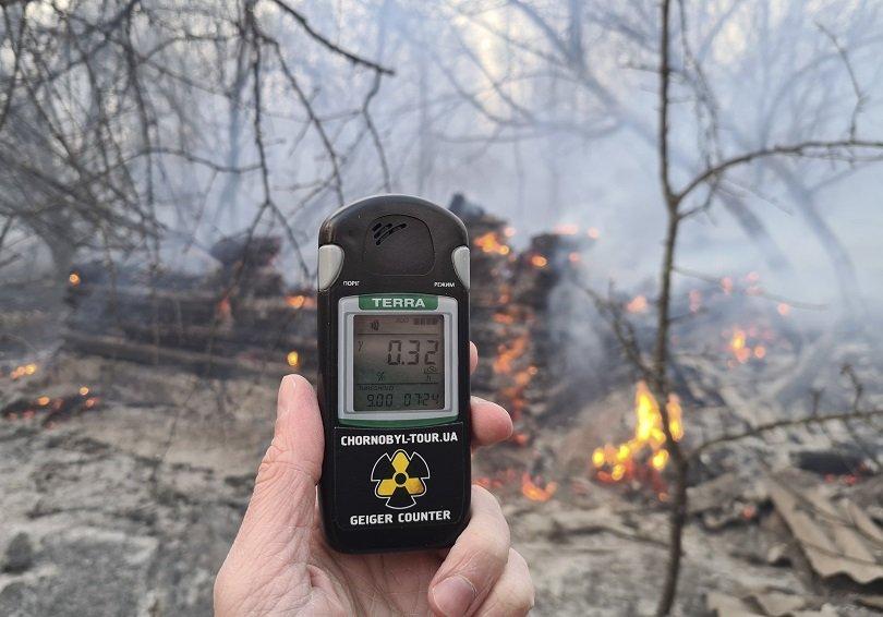 пожарът района аец чернобил стихва вече дни снимки