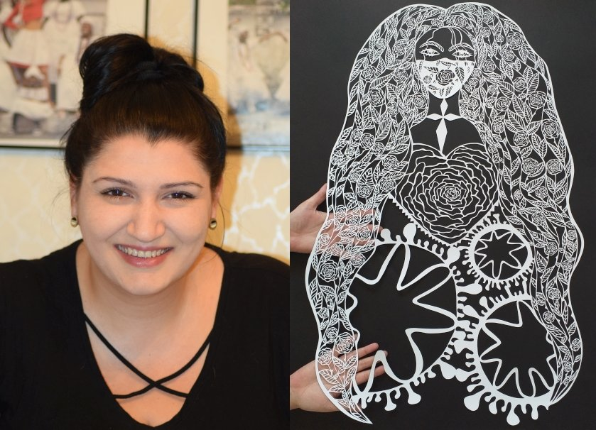 художничка посвети картина covid нарисувана скалпел