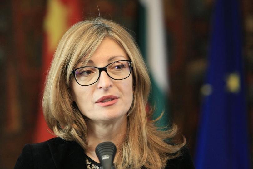 """Министър Захариева ще участва във видеоконферентен Съвет """"Външни работи"""""""