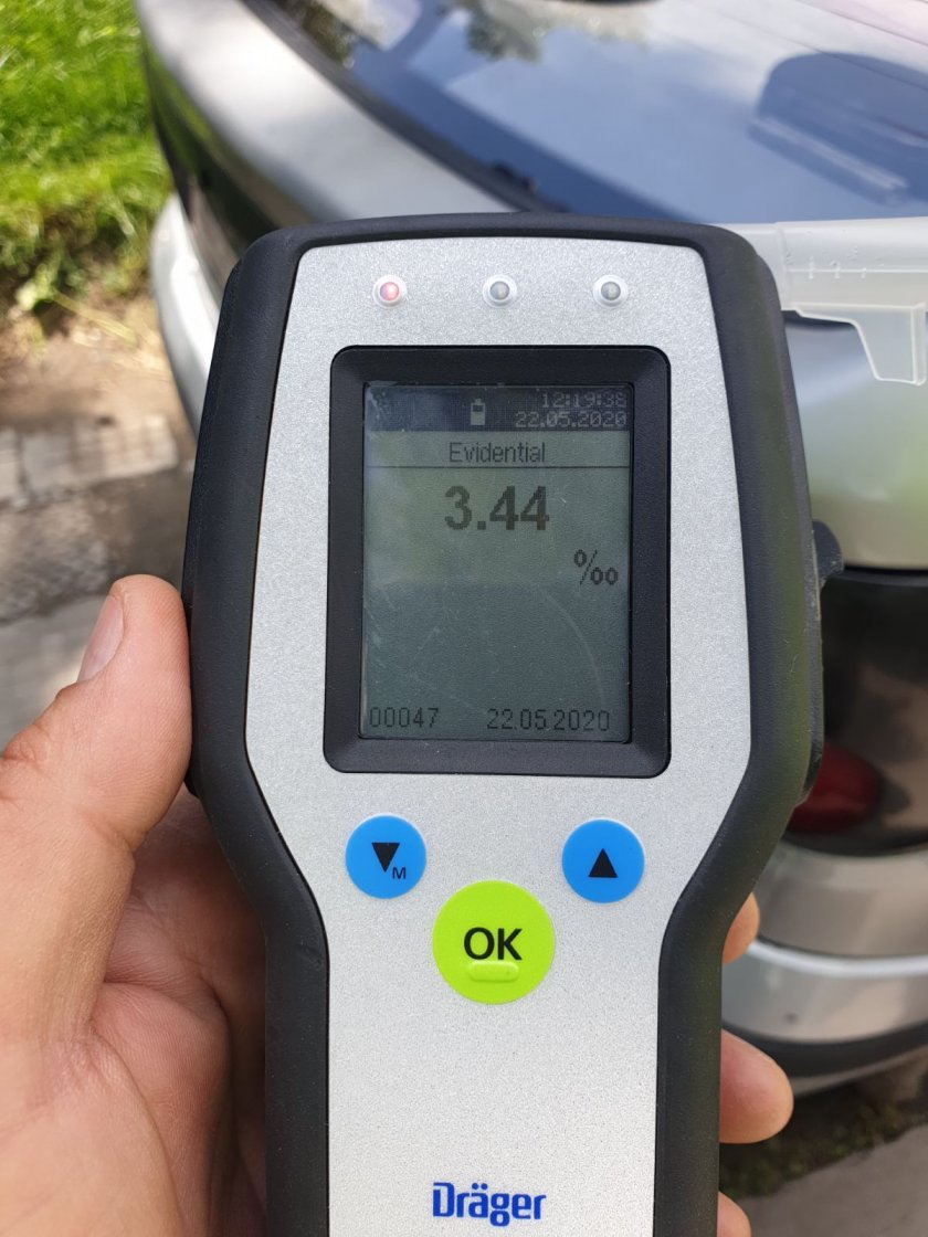 задържаха шофьор карал 344 промила алкохол