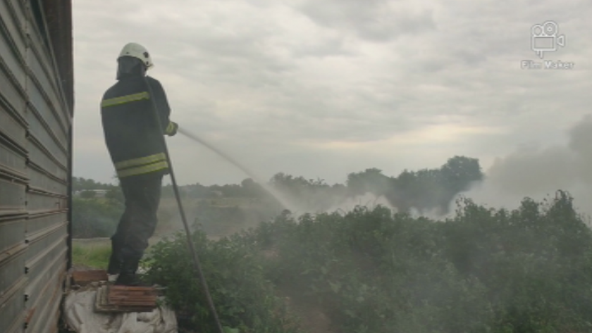 пожарникарите пловдив крак заради запалени гуми столипиново