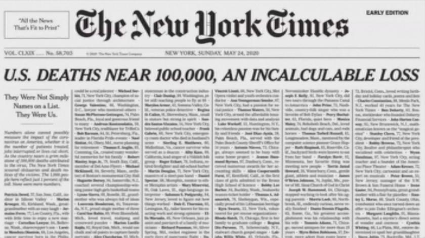 йорк таймс стряскащо провокативна корица заради covid