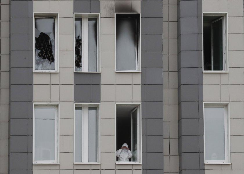 Пожар в инфекциозна болница в Санкт Петербург взе най-малко една жертва