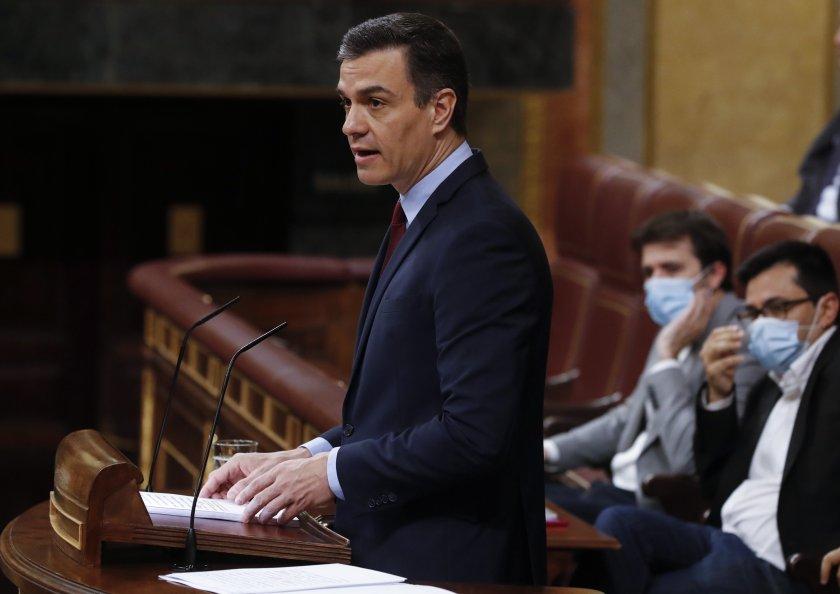 испанският премиер педро санчес поиска удължаване извънредното положение юни