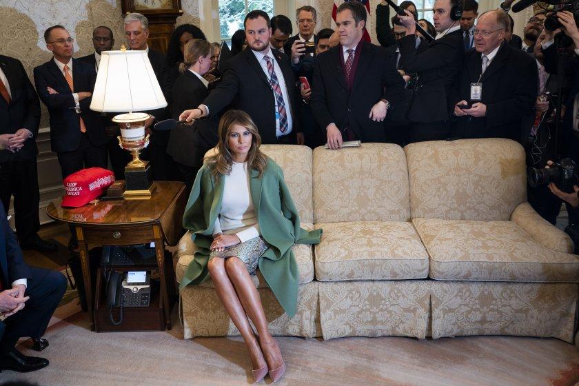 модния подиум белия дом пътят мелания тръмп