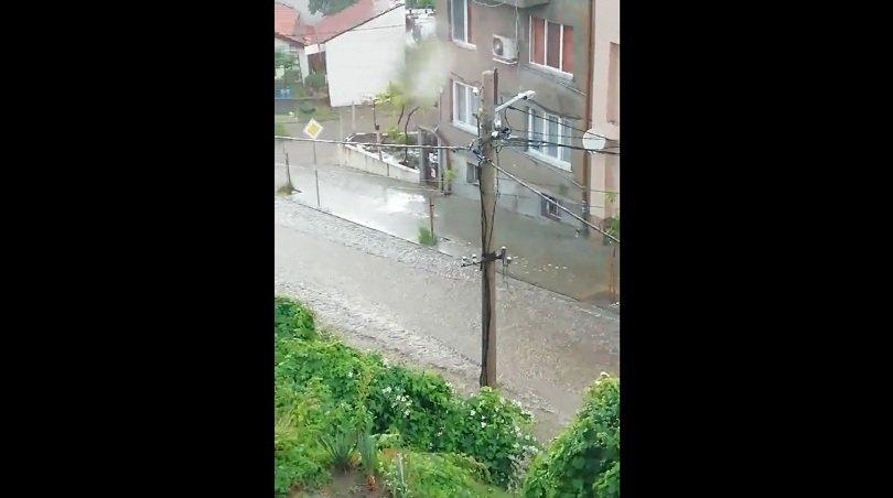 Наводнена улица в Дупница