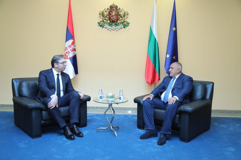 премиерът борисов посрещна сръбския президент александър вучич