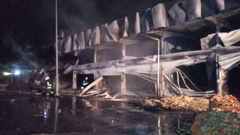 двама души леко обгорели пожара борсата петрич опасност живота