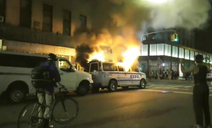 протестите йорк прераснаха бунтове мародерства следете живо