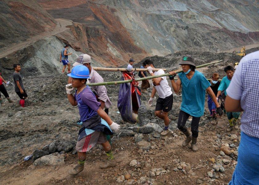 126 души загинаха в мина за добив на нефрит в Мианмар