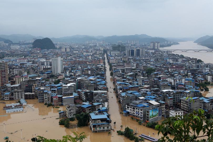 Тежки наводнения в Китай