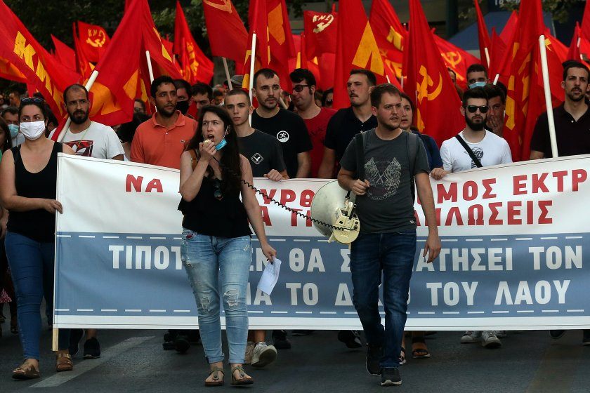гърция протести закон правилата протести