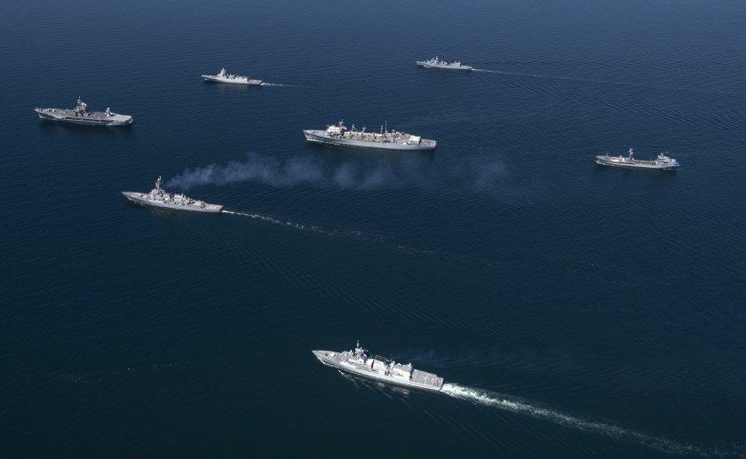 пет кораба нато влязоха пристанището одеса