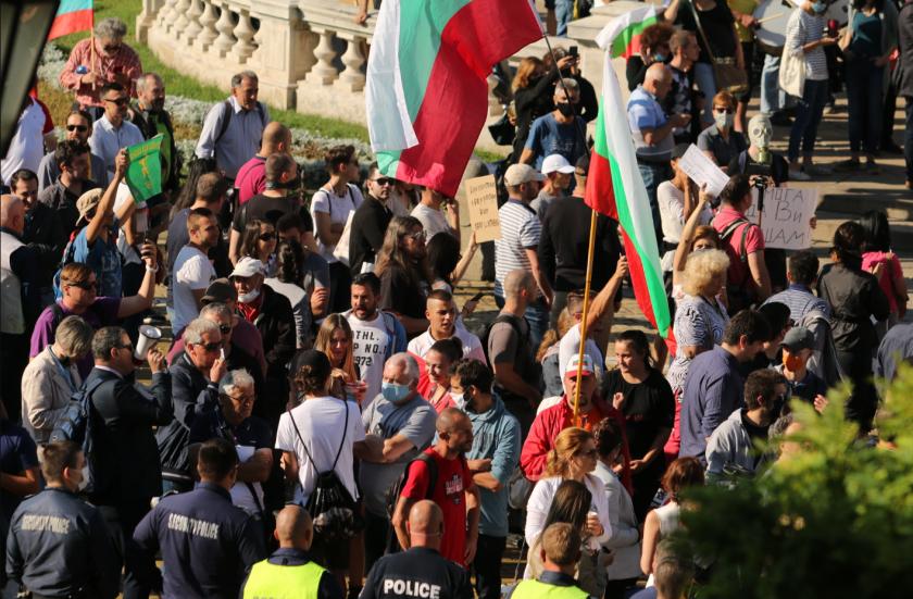 Хронология на 12-ия протест пред Народното събрание