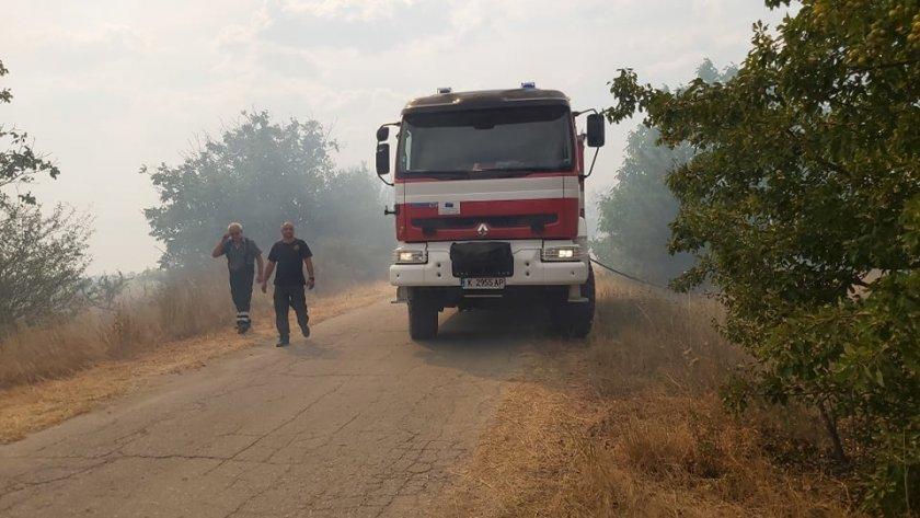 пожара горят територията страната повечето хасковско