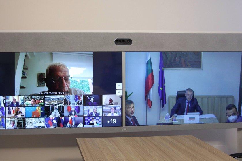 външните министри призоваха деескалация напрежението източното средиземноморие