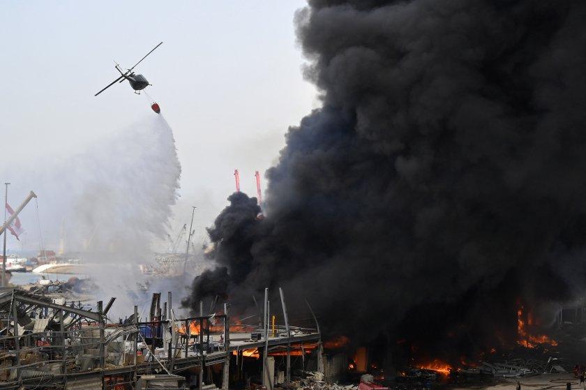 Разследват причината за пожара в пристанището на Бейрут