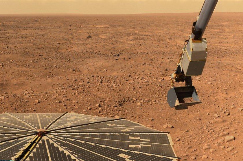 откриха солени езера ледници марс