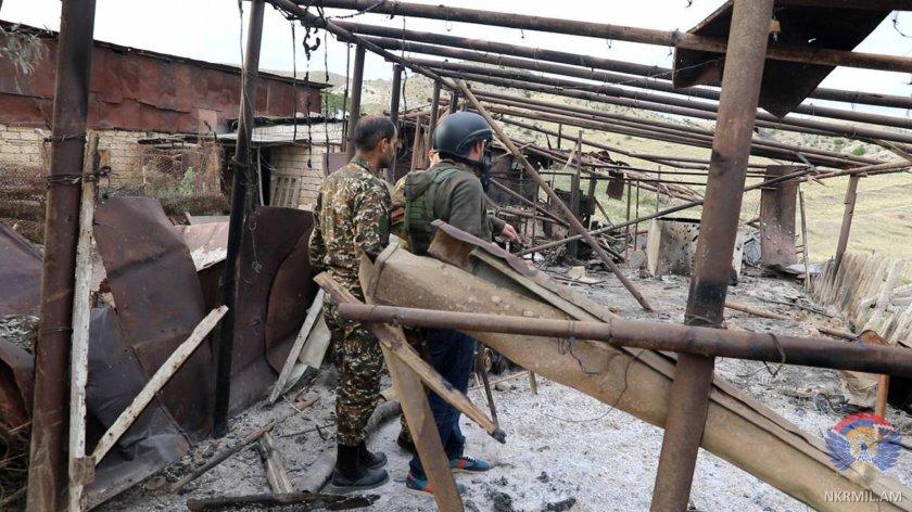 Армения съобщава за азербайджанско настъпление в Нагорни Карабах