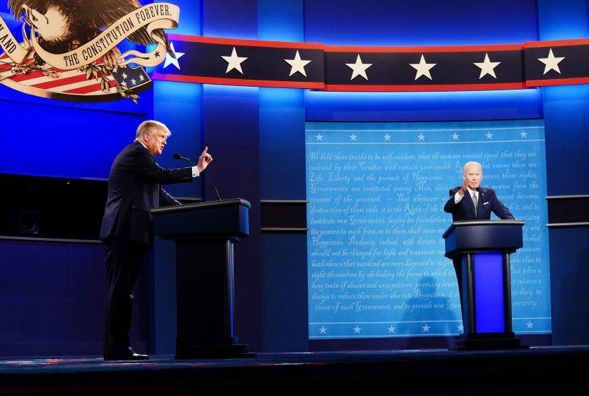 вторият дебат байдън тръмп виртуален