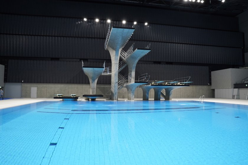 токио откри плувния център олимпийските игри снимки