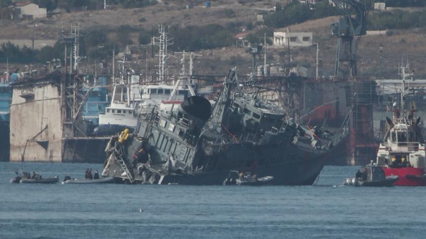 двама ранени морска катастрофа пирея