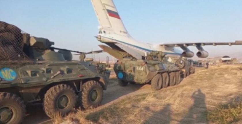 примирието протести армения руските сили заемат позиции нагорни карабах