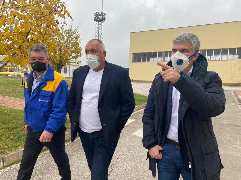 премиерът борисов инспектира разширяването чирен