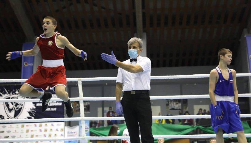 кристиян цветанов донесе първо злато българия европейското бокс софия