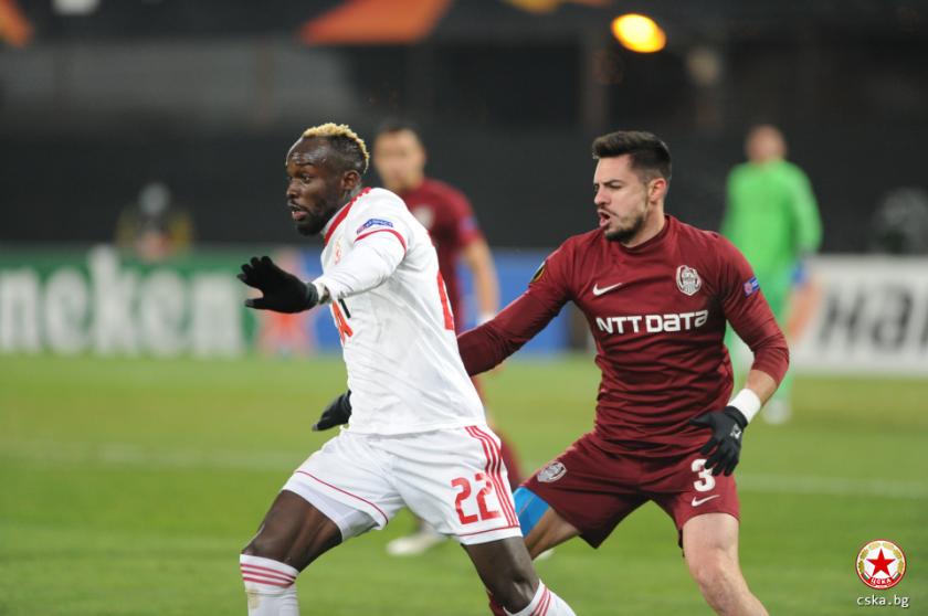 цска изпусна клуж остана без гол група лига европа
