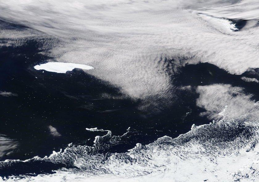 заснеха големия айсберг света