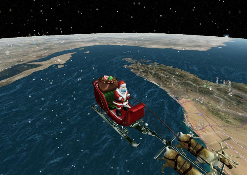 Докъде стигна Дядо Коледа?