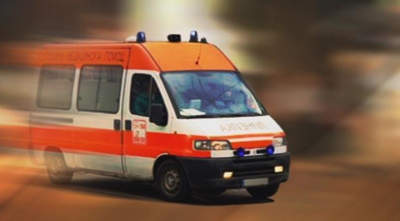 мъж болница пожар дома село брягово