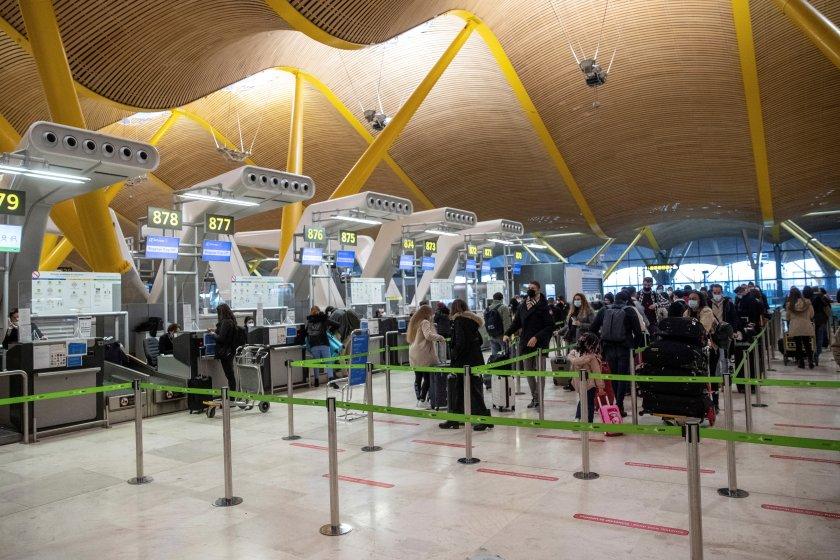 Самолетни полети София - Мадрид са отменени заради бурята Филомена