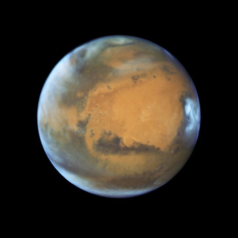 учени откриха голямо подземно езеро южния полюс марс снимки видео