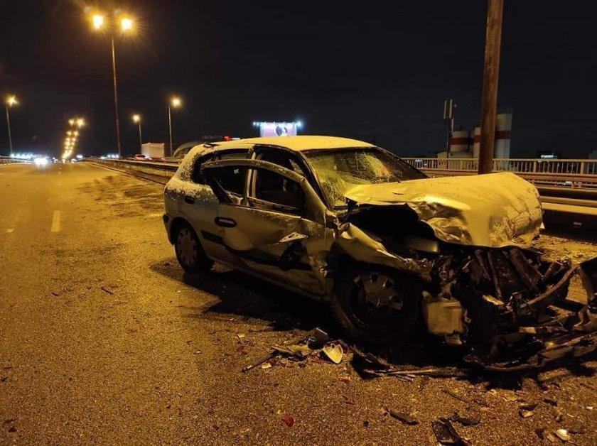 Верижна катастрофа затрудни движението на Околовръстния път в София