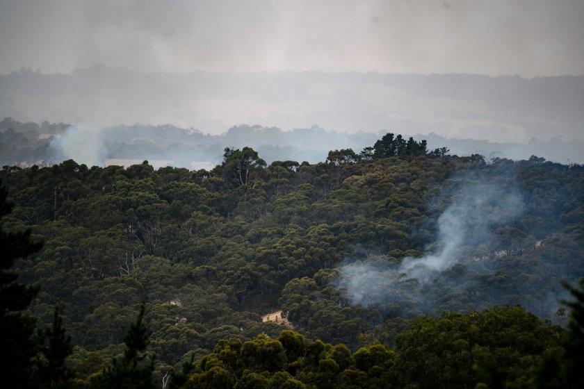 опасност пожари заради горещините австралия
