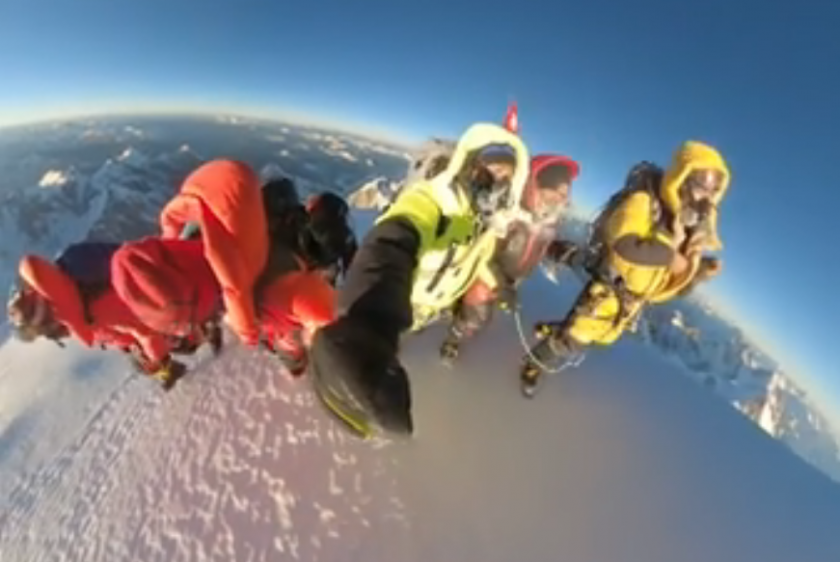 кадри зимното изкачване видео
