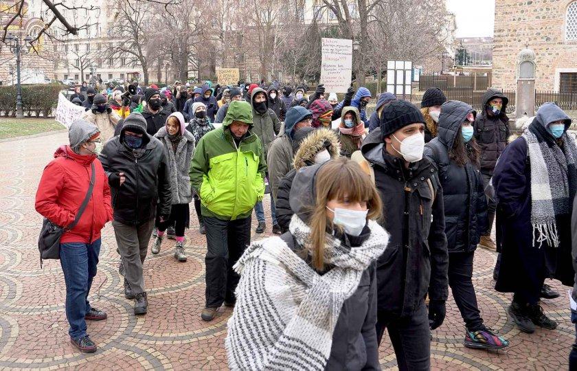 Мирно шествие в София срещу възхода на ксенофобски и расистки настроения (Снимки)