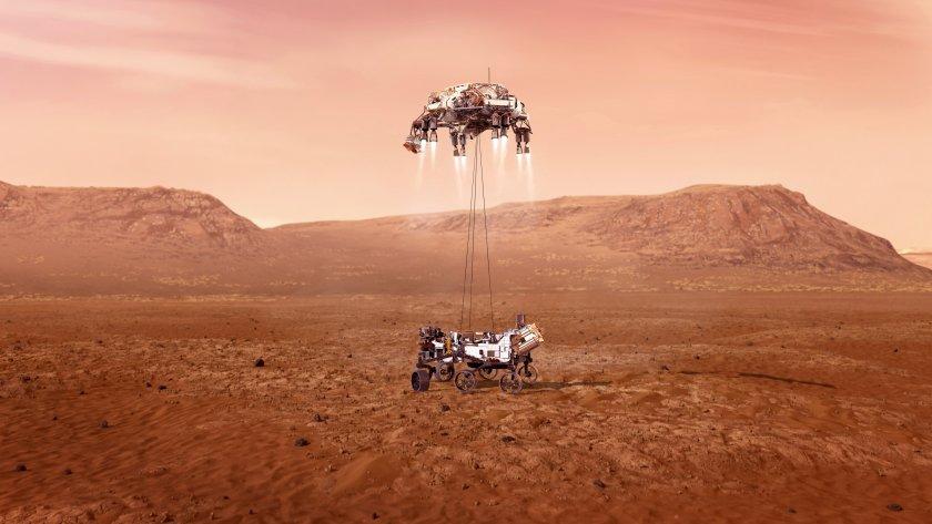 марсоходът наса каца марс