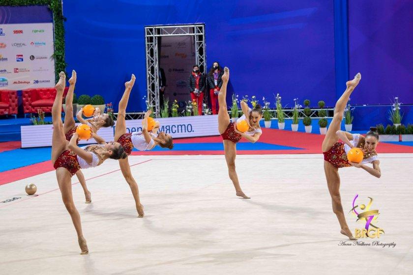 злато пет топки ансамбъла художествена гимнастика