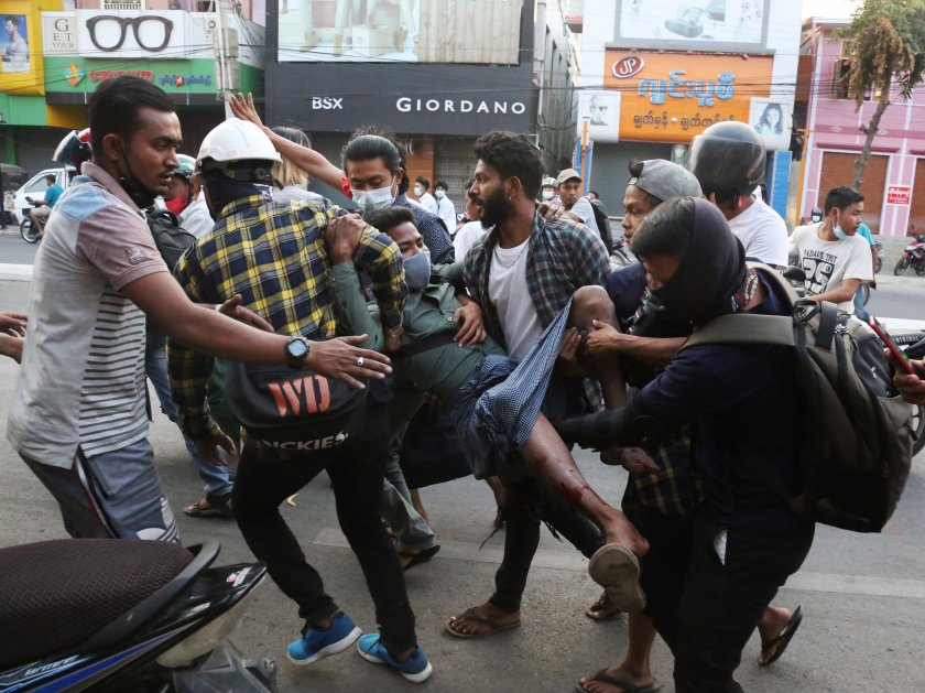 мианмар преживява смъртоносния ден началото протестите