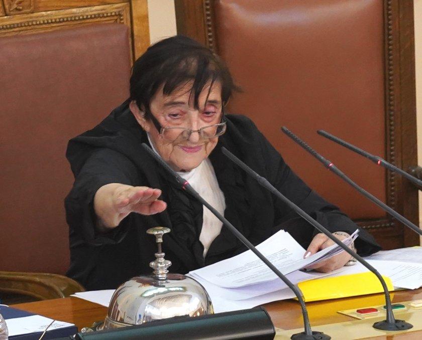 При откриването на заседание на новия парламент в центъра на
