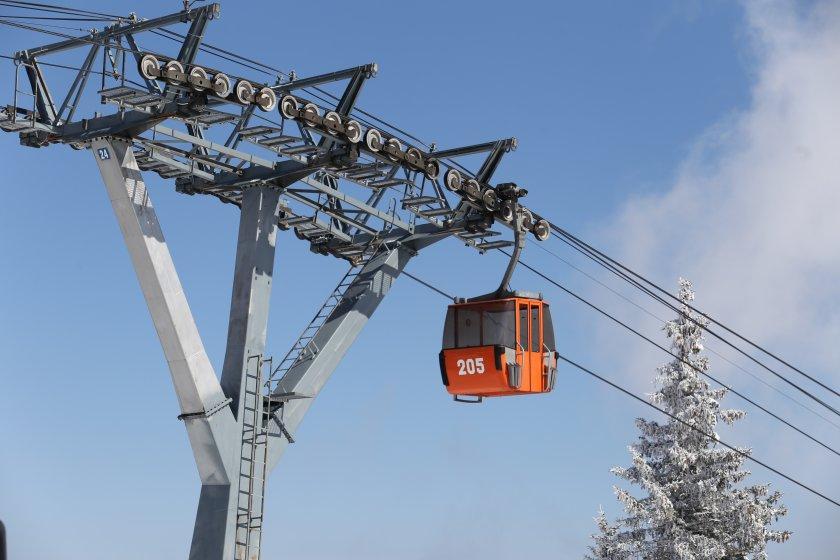 Авария спря Симеоновския лифт на Витоша. Причината е тежка авария