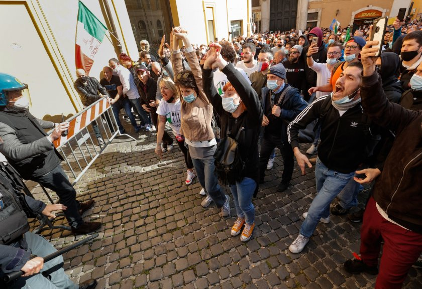 Протести в Италия: В Рим се стигна до сблъсъци