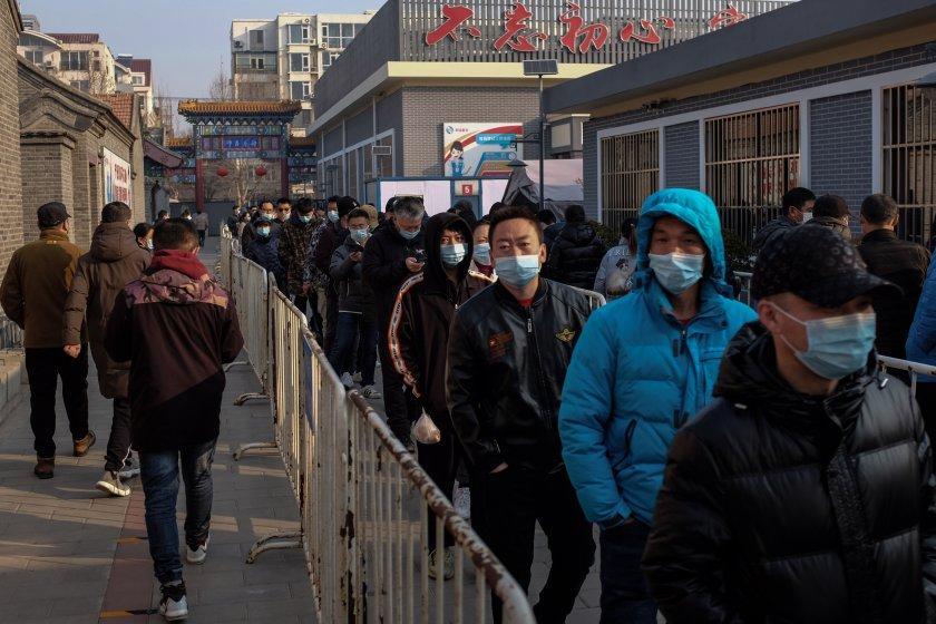 цветни табелки пекин показват нивото ваксинация