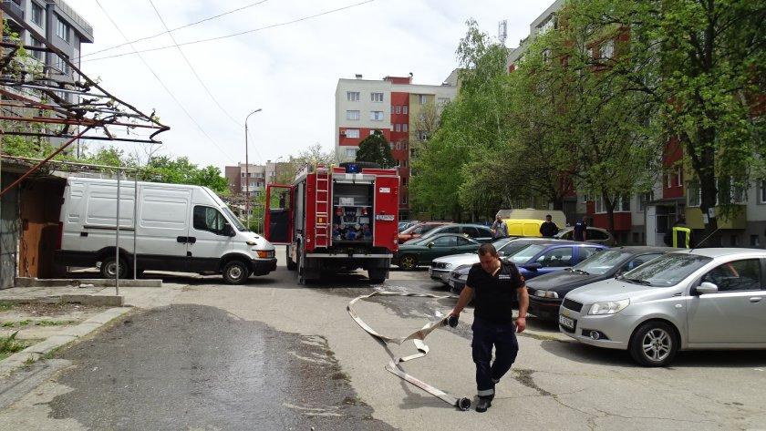 жена обгазявания пожар заради късо съединение телевизор