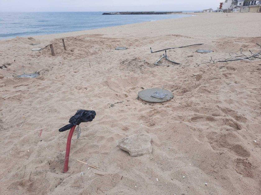бетон излива плаж кабакум