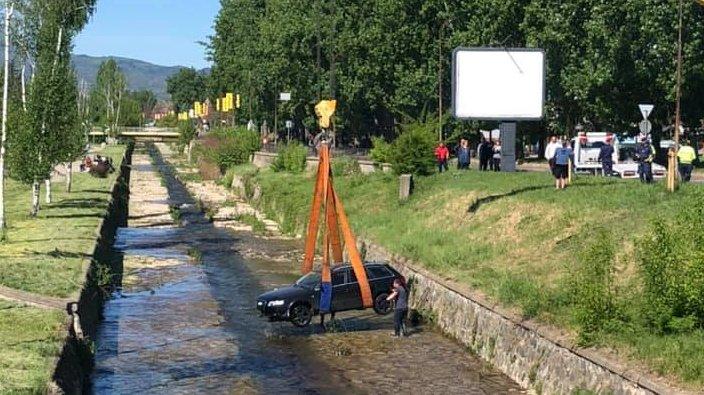 кола падна коритото река банщица кюстендил